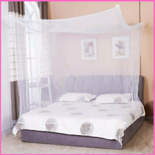 Mosquito Net Four Corner Bed Netting White Canopy Bedding Tent Insect Protection