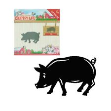 Pig metal craft die Country Life cutting dies Yvonne Creations Farm Animals