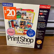 New Vintage Broderbund Print Shop Deluxe Version 10 Windows 95 98 NT