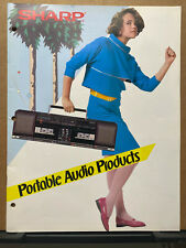 Vtg Sharp Catalog Brochure ~ Boomboxes QT-50 JC-77 Radio GF 570 A1 QT 93 95 1985