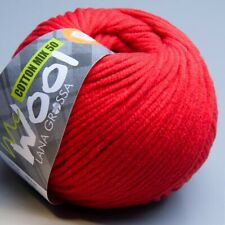 Lana Grossa McWool Cotton Mix 50 - 008 rosso nastro 100g Wolle (5.95 EUR pro 100