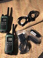 Pair of Mint Condition Motorola Talkabout T465 Walkie-Talkie-Green w Accessories