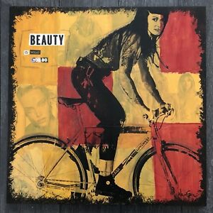 Beauty Is What You Do - multimedia acrylic collage painting