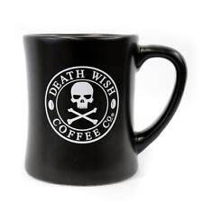 DEATH WISH COFFEE COMPANY BLACK LOGO 14 OZ DINER MUG + HUGE 6