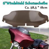 """6"""" Windschutzscheibe rauchend für 1996-2013 Harley Electra Street Glide Touring"""