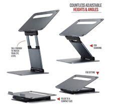 "Ergonomic Laptop stand for desk, Adjustable height up to 20"", Laptop riser compu"