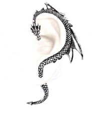 The Dragons Lure Stud Earring Left Ear Pewter Wrap Authentic Alchemy Gothic E274