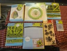 Inkadinkado Stamping gear lot rubber stamp clings oval circle wheels block NEW