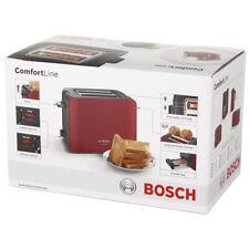 Bosch TAT6A114 ComfortLine Kompakt-Toaster, Auftaufunktion Abschaltautomatik rot
