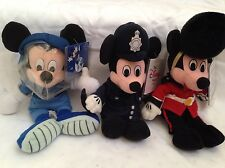 3 New Paris UK Disney Plush Bean Bag Toys Beanie Babies Lot Space London