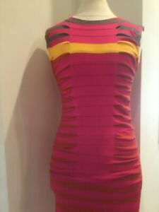 TED BAKER LONDON stripped knit bodycon DRESS Stretch US 4-6, Original Price $225