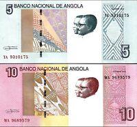 Angola 2012 (2017) >  5 /10 Kwanzas, Banknote set of 2, UNC