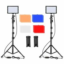 LED Video Light 11 Brightness/4 Color Filters Dimmable Photography Set Photo