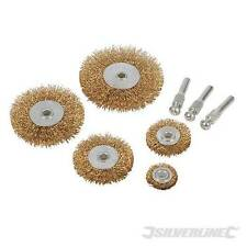 Wire Wheel Set 5pce 6mm Shank For use with power drills. 3 x 6mm shank