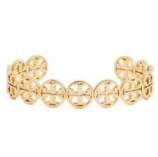 Tory Burch Frozen Logo Cuff Bracelet Goldtone Womans Free Shipping