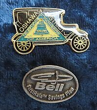 Pair of Bell Canada Pins Oshawa District Telephone Pioneers of America  +