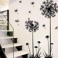 Flowers Wall Sticker Dandelion Decal Removable Diy Mural Bedroom Art Room Decor