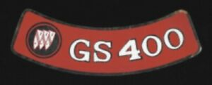 BUICK 1968-1969 GS 400 Air Cleaner Decal, Red on Silver