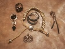 Six Odd Silver Jewellery Pieces.