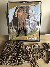 Caveman Stoneage Costume Unisex Age 5-6 Dress Up Leopard Print World Book Day