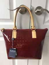 NWT ARCADIA Polo Red Leather Bag Satchel Italian Handbag Crossbody Satchel