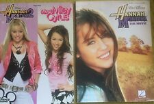 2 HANNAH MONTANA SONG BOOKS PIANO VOCAL GUITAR MEET MILEY CYRUS & THE MOVIE