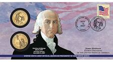 P24 James Madison 2007 PRESIDENTIAL First Day Coin Cover