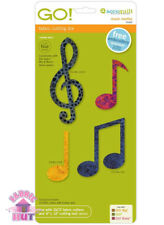 Accuquilt GO! Fabric Cutter Die Music Medley Musical Notes Quilt Sew 55482