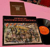 STORMY SIX LP MACCHINA MACCHERONICA ORIG ITALY PROG EX GATEFOLD + LIBRETTO