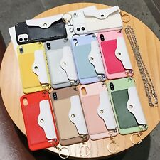 For Apple iPhone Hot Crossbody Chain Wallet Fashion Silicone Phone Case Cover