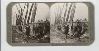 WWI Stereoview (Realistic) - King Albert's soldiers hold line of the Yser