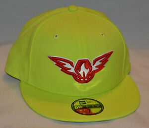 New Era 59Fifty Atlanta Hawks NBA Solid Team Collection Hat (Size 7) Volt Green