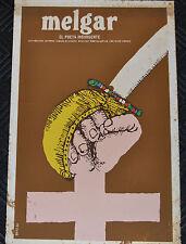 "1982 Vintage Cuban Movie Poster.Plakat.Affiche.affisch""Melgar""Peru Poetry.Poet"
