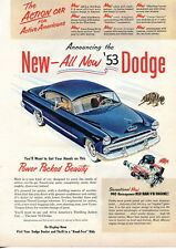 1953 Print Ad of Dodge Coronet 140 Red Ram V8 Engine
