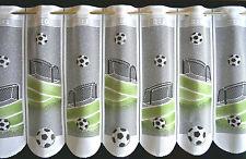 Fußball Scheibengardine Kindergardine Kinderzimmer Fußballgardine Tor Neu Ball