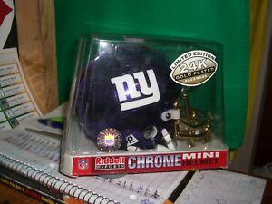 NFL 2000 Chrome NFL Mini Helmet with 24K Facemask Giants #226 of 3000