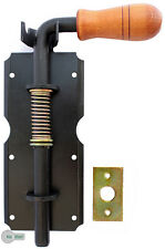 Federriegel Bolzenriegel Türriegel Torriegel  210 / 14 mm Schwarz