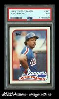 1989 Topps Traded #34T - Julio Franco (Texas Rangers) - PSA NM 7