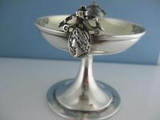 Early Coin Silver GORHAM Master Salt Cellar / Dish MEDALLION c1860s ~no mono