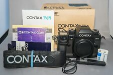 CONTAX N1 35mm SLR Film Camera Body w/Strap EXCELLENT++ BONUS BOXED