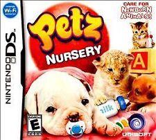NINETENDO DS~ PETZ NURSERY~ CASE, MANUAL AND GAME CARTRIDGE~-QUICK SHIP