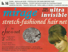 Jac O Net 146 Mirage Invisible ultra Hair Net black dark brown pou cheveux noir