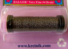 Kreinik metallics Balger Very fine No. 4 Braid thread 11m Col. 4204 storm cloud