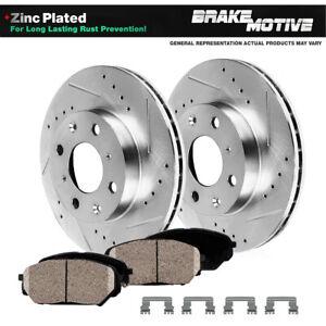 Front Drill Slot Brake Rotors & Ceramic Pads For 2012 2013 2104 2015 Scion iQ