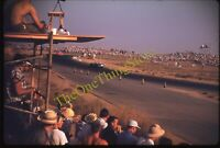 Riverside Raceway Race Crowd 1950s 35mm Slide Kodachrome