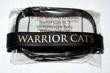 WARRIOR CATS - Armband SCHWARZ mit goldener Aufschrift - elegant! In OVP