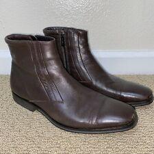 Bruno Magli Men Raspino Dark Brown Italian Calf Leather Boots Shoes 9M MSRP $495