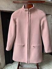 Hobbs Ladies 80% Wool Coat / Overcoat Fully Lined Dusky Pink Size 8/10