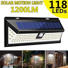1/2x 11 8LED Lámpara De Energía Solar Jardín Exterior Patio remoto sensor de movimiento PIR