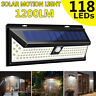 1/2x 11 8LED Solar Power Lamp Outdoor Garden Yard PIR Remote Motion Sensor